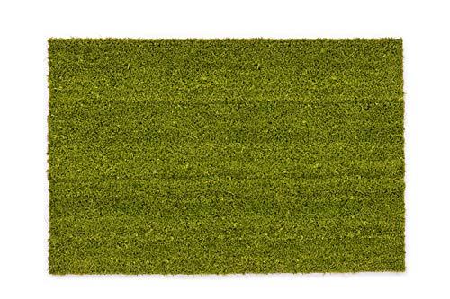 Carpido rutschfeste Kokosmatte - antibakterieller Schmutzfang - für den überdachten Außenbereich - nachhaltige Naturfaser - 100% Kokos - 50 x 80 cm - grün