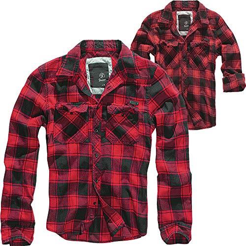 Brandit Check Shirt Herren Baumwoll Hemd 4XL Red-black