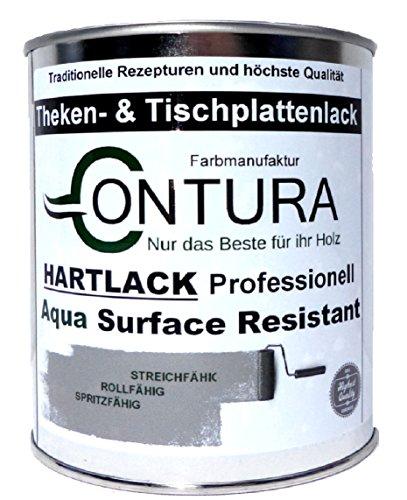 Hartlack Tischplattenlack Klarlack Universallack 750ml Lack Thekenlack Farblos Holz Tischplatten Parkett (Matt)
