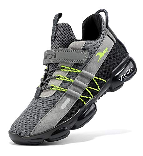 Kinder Turnschuhe Kinderschuhe Jungen Sneaker Mädchen Outdoor Sportschuhe Casual Laufschuhe Atmungsaktiv Leicht Hallenschuhe für Unisex-Kinder gr 37 Grey