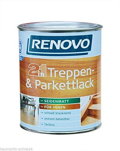 Treppen- Parkettlack innen 750 ml farblos seidenmatt Renovo