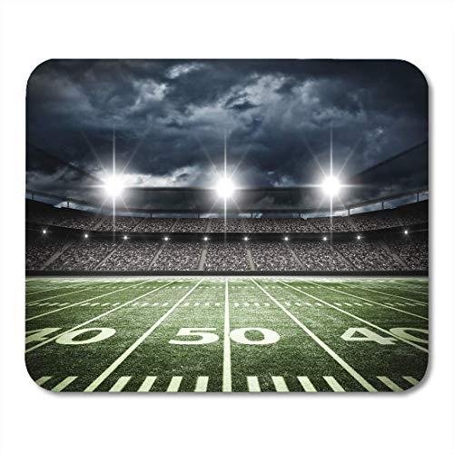 AOHOT Mauspads Stadium American Football Satdium Field Light Night Soccer Turf Mouse pad 9.5