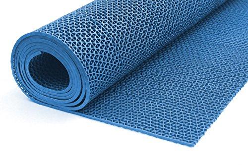 ONPIRA Bodenmatte in 3 Farben Saunaläufer Duschmatte Antirutschmatte Meterware 90 und 120 cm (90cm Blau)
