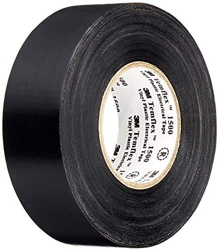 3M TSCH2525 Temflex 1500 Vinyl Elektro-Isolierband, 25 mm x 25 m, 0,15 mm, Schwarz