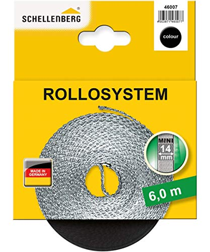 Schellenberg 46007 Rollladengurt 14 mm x 6 m - System MINI, Rolladengurt, Gurtband, Rolladenband