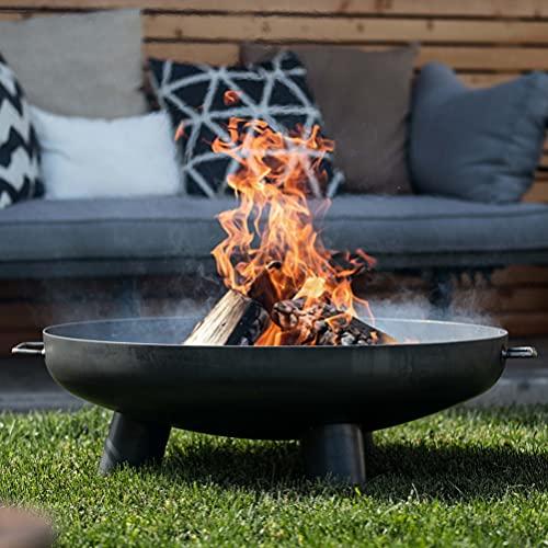 Czaja Feuerschalen® Feuerschale Coburg Ø 80 cm - Feuerschalen für den Garten, Terrasse und Balkon mit Wasserablaufbohrung, Feuertonne und Feuerkorb, große Feuerstelle für den Garten