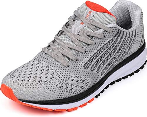 WHITIN Damen Sportschuhe Sneakers Turnschuhe Frauen Laufschuhe Joggingschuhe Walkingschuhe Jungen Freizeitschuhe Schnür Fitness Schuhe Hellgrau Größe 38