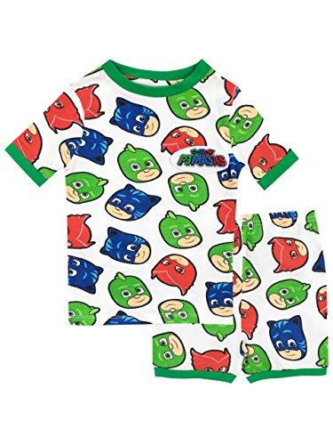 PJ Masks Jungen Catboy Owlette Gecko Schlafanzug Slim Fit Mehrfarbig 110