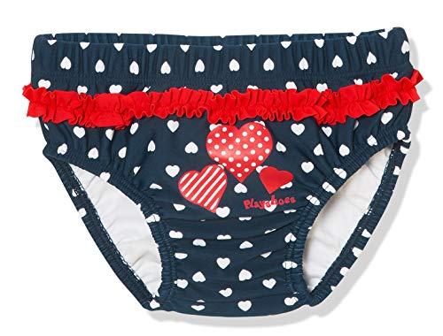 Playshoes UV-Schutz Windelhose Herzen Capo d'Abbigliamento, Blu (Marine 11, (Herstellergröße: 86/92) Baby-Mädchen
