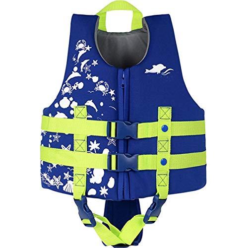 Schwimmlernweste, ideale Schwimmlernweste für Kinder 3-10 jährige Jungen und Mädchen Schwimmhilfen Auftrieb Bademode Einstellbar Schwimmen Lernen Schwimmbad Tauchen Strand Surfen Sicherheit/Blau XL