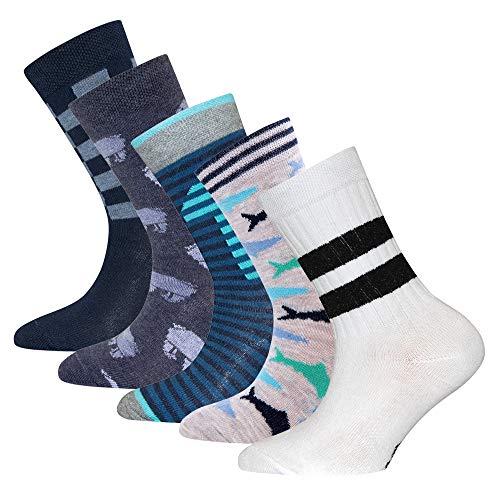 Ewers 5er Pack ÜBERRASCHUNGSPAKET RESTPOSTEN SONDERPOSTEN - individuell gefüllt - Kindersocken für Jungen, MADE IN EUROPE, Socken Baumwolle Jungensocken