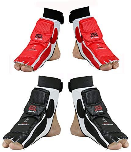 EVO Taekwondo Fußschutz Guard Karate Handschuhe MMA Polster Socken Sparring Getriebe-Kinder Neu Damen - Schwarz, Small
