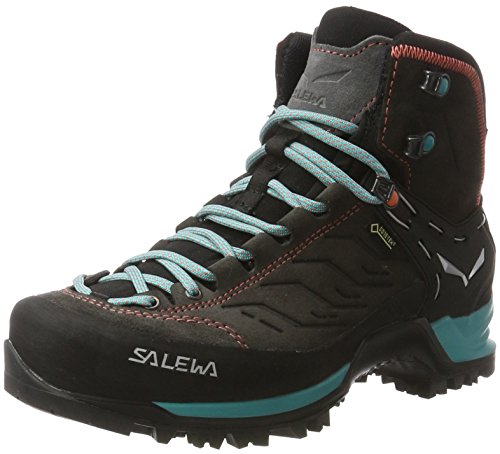 Salewa Damen WS Mountain Trainer Mid Gore-TEX Trekking- & Wanderstiefel, Magnet/Viridian Green, 38.5 EU