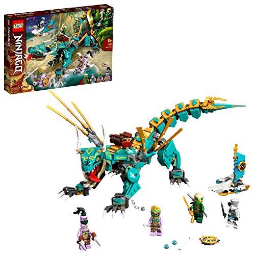 LEGO71746NINJAGODschungeldracheBauset,mitNinjaLloydundZaneMinifiguren,DracheSpielzeugab8JahrenfürJungenundMädchen