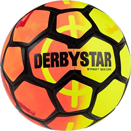 Derbystar Unisex– Erwachsene Street Soccer Fußball Ball, orange gelb schwarz, 5