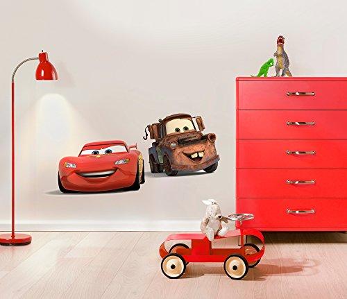 Komar Disney Deco-Sticker CARS FRIENDS   50x70cm   Wandtattoo, Wandsticker, Wandaufkleber, Wandbild, Auto, Rennauto, Lightning McQueen, Kinderzimmer -14015h