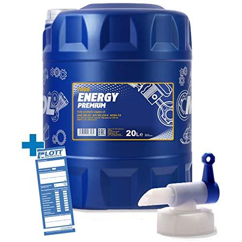 MANNOL Energy Premium 5W-30 20L Motoröl + Auslaufhahn
