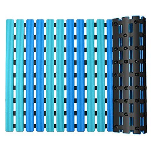 YISUN Badematte Anti-Rutsch Duschmatte Anti-Schimmel Badewanne Rutschmatte Duscheinlage mit Saugnapf Dusche Fußmatte Schnelle Entwässerung Badewanne Matte Blau