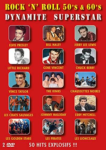 Rock 'n' roll 50's & 60's dynamite superstar - 50 hits explosifs !!! [FR Import]