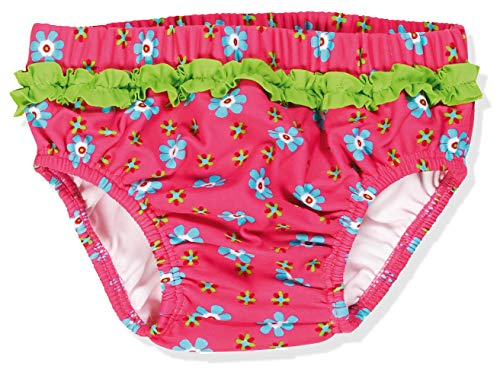 Playshoes Baby Mädchen Uv-schutz Windelhose Blumen Schwimmwindel, Pink, 86-92 EU