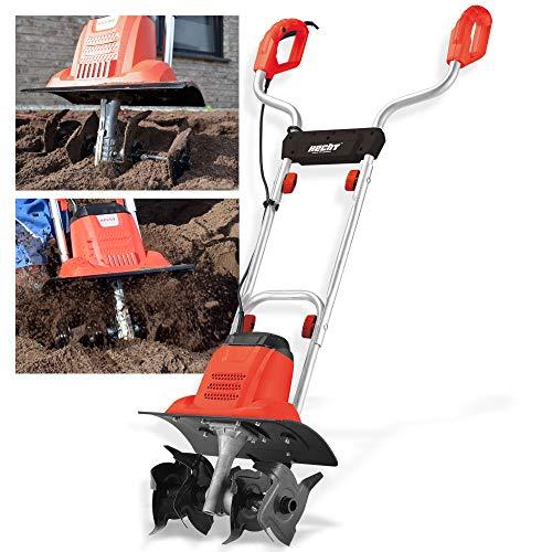 Brandneue Hecht Bodenhacke für einen schönen Garten – Perfekt zum auflockern und umgraben Ihrer Erde – Mit 36,5 cm Arbeitsbreite und leistungsstarken 1000 Watt Motor (Rot)
