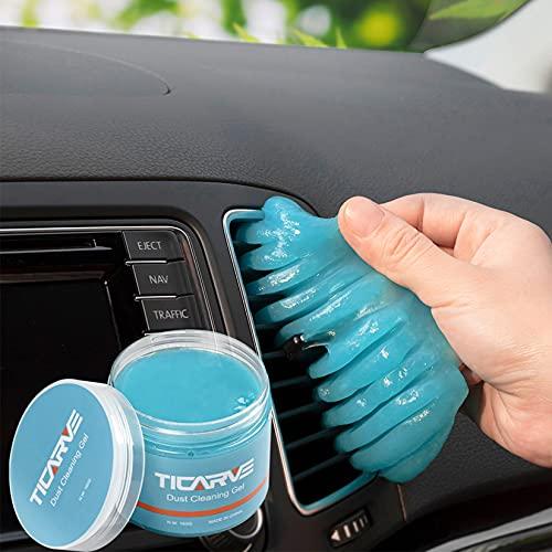 TICARVE Auto Reinigungsgel für den Innenraum, Weicher und Flexibler Tastatur Reiniger, Staubschutzkleber aus umweltfreundlichem, Universeller Staubreiniger für Auto, Computer, Drucker, Kameras