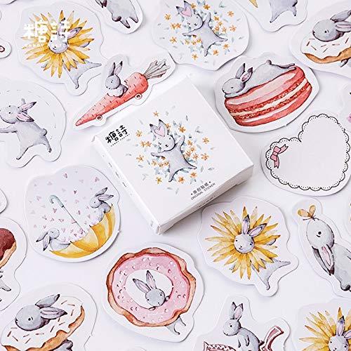 BLOUR Candy Poetry Mondkaninchen Mini Papier Tagebuch Aufkleber Scrapbooking Dekoration Etikett 1 Los = 1 Packung = 45 STK