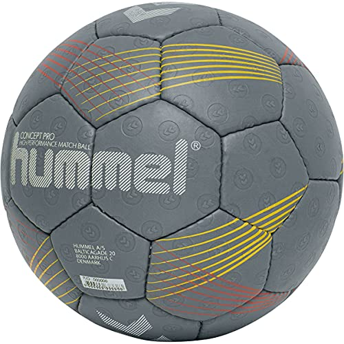 hummel Unisex-Adult Concept Pro Hb Handball, Dark Grey/Yellow/RED