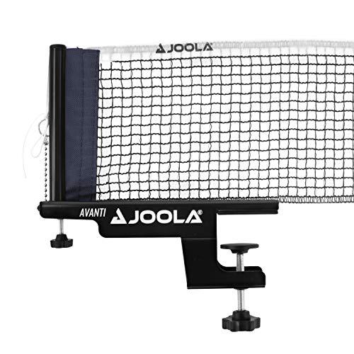 JOOLA 31009 Unisex– Erwachsene TT-Netzgarnitur Avanti Tischtennisnetz, schwarz, 152cm
