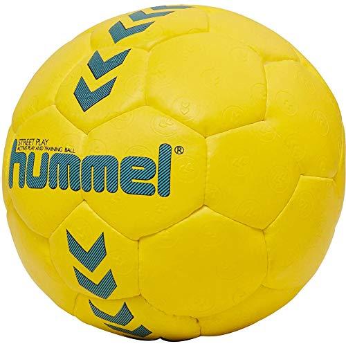 hummel 203607 Unisex Kinder HMLSTREET Play-Handball, Safety Gelb/Blau Nacht, 0