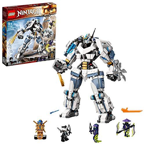 LEGO 71738 NINJAGO Legacy Zanes Titan-Mech Ninja Bauset mit Jay als goldene Figur und 2 Geisterkämpfern