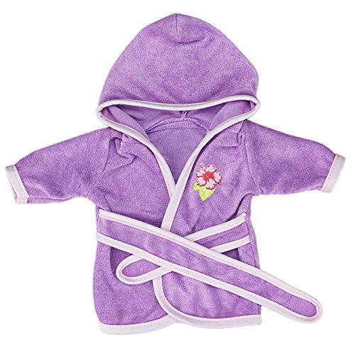 Uteruik Puppen-Nachthemd, violett, für 46 cm große amerikanische Puppen-Outfits, Kostüm-Zubehör