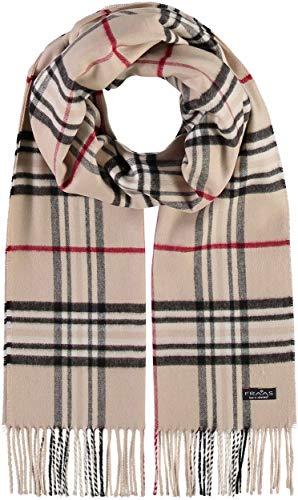 FRAAS Cashmink® Schal kariert für Damen & Herren - 35 x 200 cm - Made in Germany - Warmer XXL-Schal - Plaid Schal weicher als Kaschmir - Perfekt für den Winter Beige