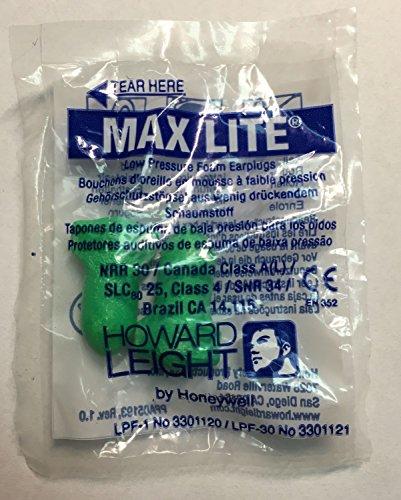 Howard Leight Max Lite, 25 Paar, paarweise verpackt, grün, SNR 34 dB, Gehörschutz, Ohrstöpsel Gehörschutz, Ohrstöpsel, Gehörschutz, Ohrstöpsel, wadle-shop ®