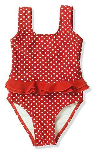 Playshoes Mädchen Badeanzug UV-Schutz Punkte, Rot (8 rot), 110/116
