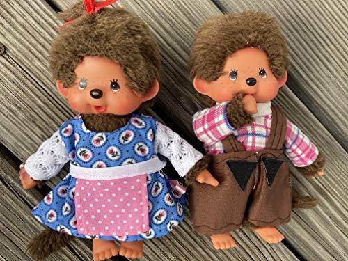 Puppenkleidung handmade passend für MONCHICHI Gr. 20 cm Dirndl Latzhose Bekleidung NEU