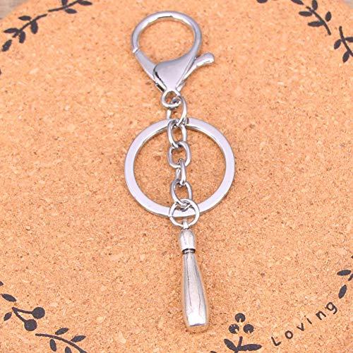 GANGXIA Schlüsselbund Mode Silber Farbe Legierung Metall anhänger Bowling pins schlüsselanhänger schlüsselanhänger Geschenk für Auto schlüsselbund zubehör