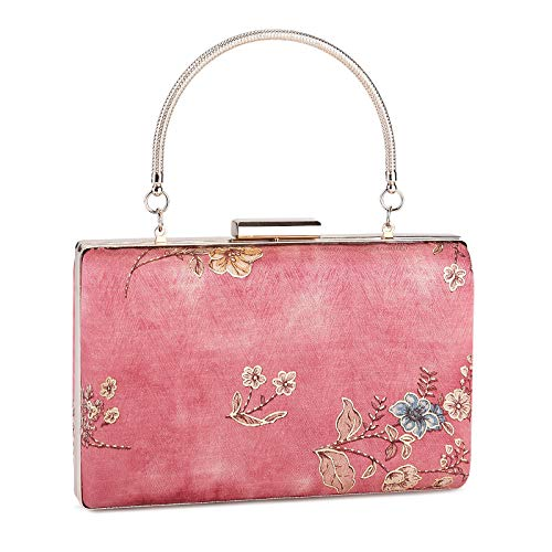 Damen-Clutch, Vintage-Blumenmuster, Abend-Handtasche, für Hochzeit
