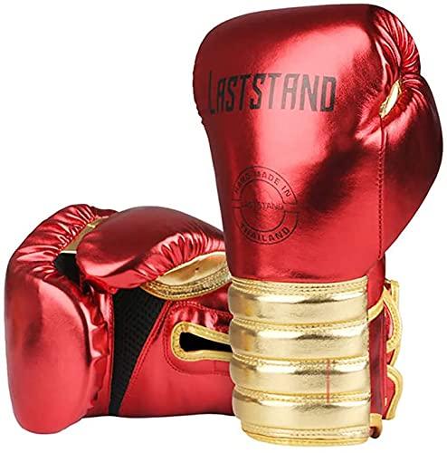 FGDFGDG Muay Thai Mikrofaser Leder Boxhandschuhe Erwachsene Kinder Frauen Männer Gym Training Grant Boxing Equipments,Rot,6oz