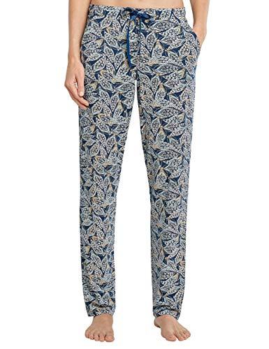 Schiesser Damen Mix + Relax Jerseyhose lang Pyjamaunterteil, Petrol, 36