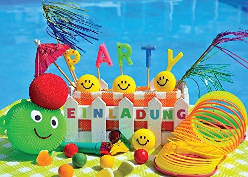 JuNa-Experten 10 Einladungskarten Kindergeburtstag Schwimmbad Mädchen Jungen Jungs Geburtstagseinladungen Einladungen Geburtstags-Party Kartenset