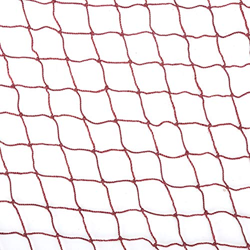 Keenso Badminton-Netz, langlebiges rotes Badminton-Netz mit Seilaufsatz als Übungszubehör