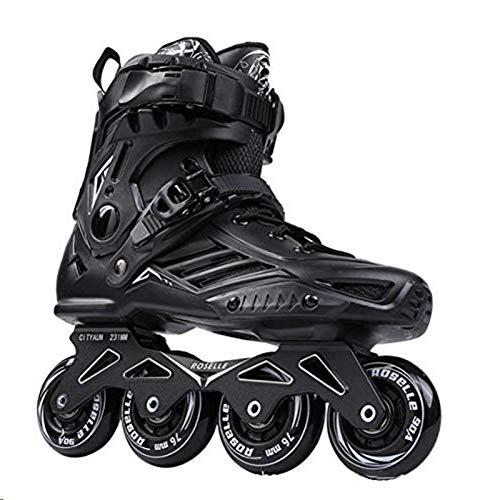 qyy Inline Speed Skates Schuhe Hockey Rollschuhe Turnschuhe Rollen Frauen Männer Rollschuhe Schlagfestigkeit Atmungsaktiv Für Erwachsene Skates Inline ProfessionalBlack-EUR 42.5