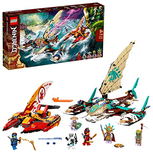 LEGO71748NINJAGODuellderKatamaraneBausetmit4SpielzeugbootenundKai,JayundZaneMinifiguren