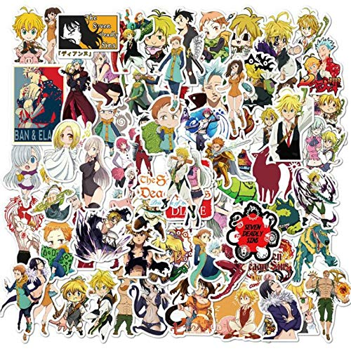 TUHAO /Pack Anime Seven Deadly Sins Stickers for Guitar Laptop Ipad Skateboard Kids Toys Waterproof Sticker 100 Pcs