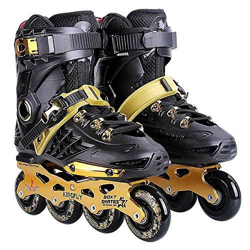 Inliner Damen Herren, Inlinerskates, Aluminiumbügel 82A Räder ABEC-7 Lagerachse, Knöchelschutz, Erwachsene Unisex Skates (43)