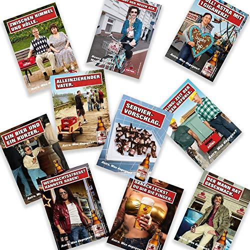 Astra Postkarten-Set Edition 1 - Set aus 10 kultigen Plakatmotiven, Geschenkidee aus St. Pauli
