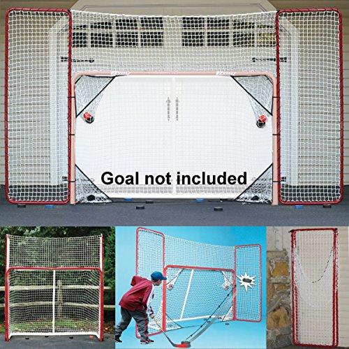 EZGoal Unisex für alle Altersgruppen Hockey-Rückschlag-Set mit Zielscheiben, rot/weiß, 3 x 15 cm