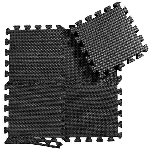Schutzmatten Set Puzzlematte Bodenschutz Matte - 18 Puzzle Bodenschutzmatten Unterlegmatte | Fitnessmatte Turnmatte Sportmatte Trainingsmatte Boden Schutz, Sport Fitnessraum Keller Garage Fitness Pool