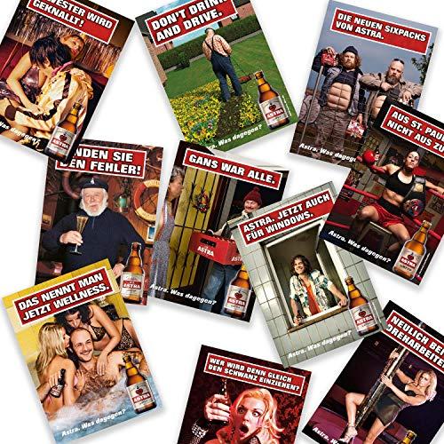 Astra Postkarten-Set Edition 3 - Set aus 10 verschiedenen Plakatmotiven, Geschenkidee aus St. Pauli